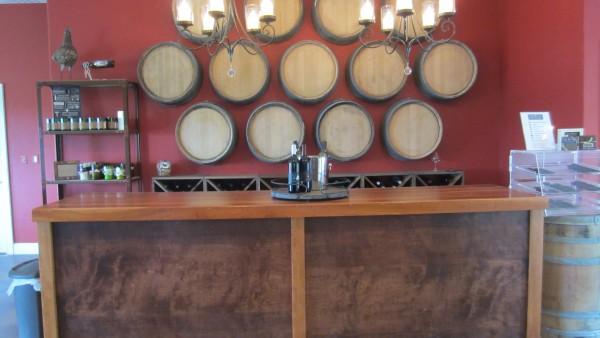 barrel wall and bar