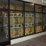 glass barrel wall