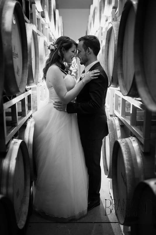 Couple in Barrel Room