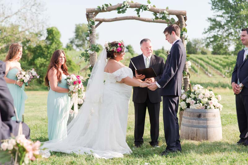 Ceremony in the vineyard