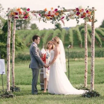 vineyard ceremony at wedding venue in northern virginia