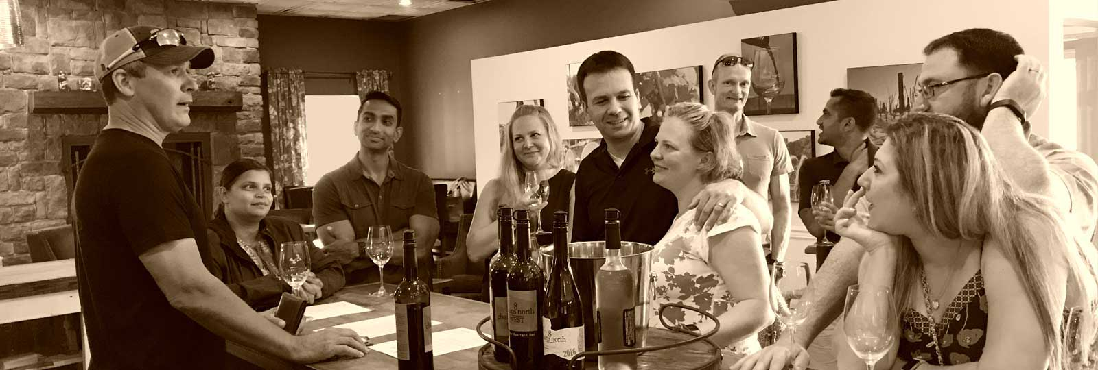 Wine tasting and education at Loudoun County winery 8 Chains North