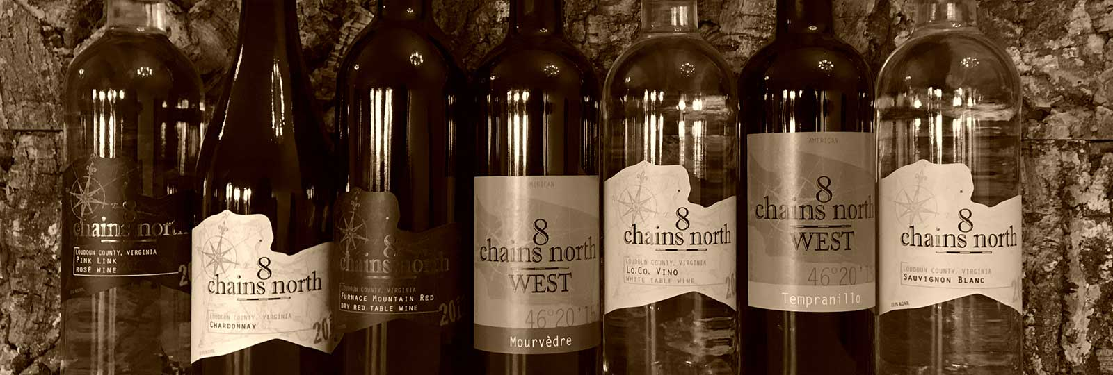 locally made wine by 8 Chains North Winery in Loudoun County