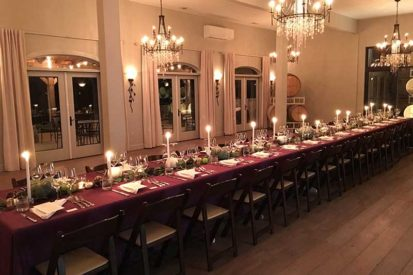 The 8 Chains North Compass Rose Room set for a private event