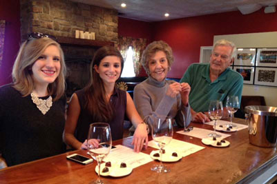 visitors to loudoun county winery 8 chains north