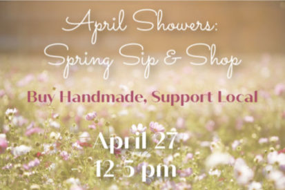 april showers spring sip and shop