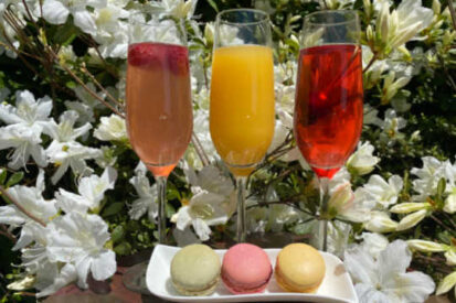 mother's day mimosas and macarons