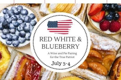 red white and blueberry pie pairing